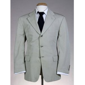 Vintage Bill Blass Men's Wool Summer Travel Blazer